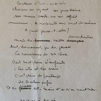 manuscrit les yeux de la vieille