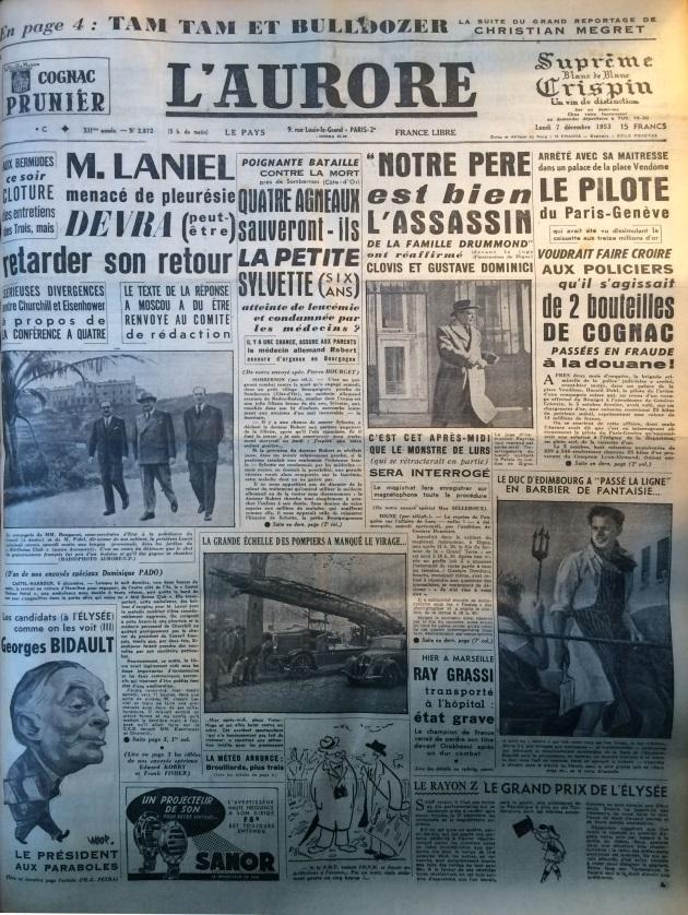 L'aurore 7 décembre 1953