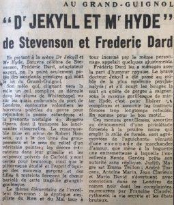 L'aurore n°3193. Dr Jeckyll