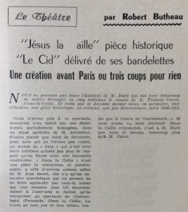 Lyon Spectacles n°86. Jésus la Caille