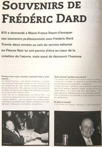 Revue 813 n°107 article Souvenirs de Frédéric Dard 1