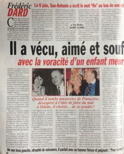 France Dimanche N°2807 article 1 bis