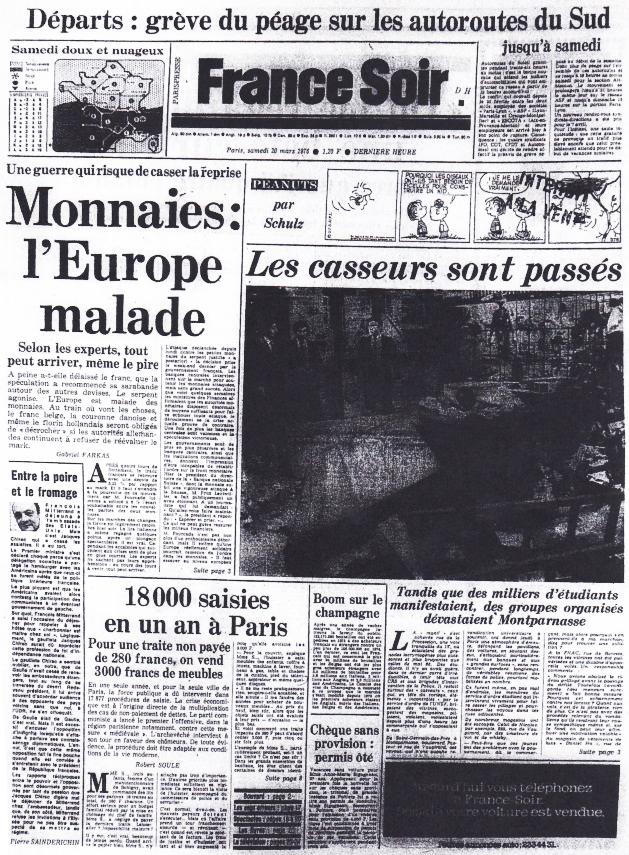 France Soir 20 mars 1976