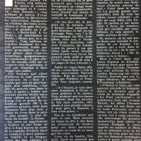 France soir magazine l'oeuvre Dard texte