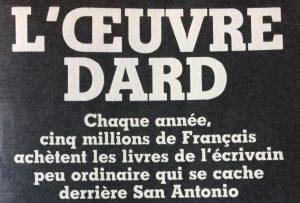France soir magazine l'oeuvre Dard titre