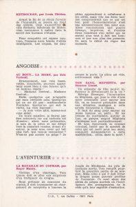 Informations Fleuve Noir n°106 décembre 1973 back