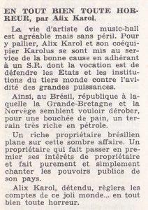 Informations Fleuve Noir n°106 décembre 1973 entout bien toute horreur
