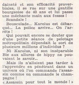 Informations Fleuve Noir n°108 février 1974 Alix Karol - suite