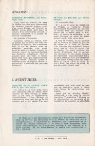 Informations Fleuve Noir n°108 février 1974 back