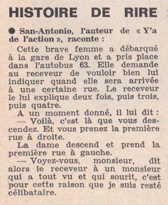 Informations Fleuve Noir n°28 avril 1967 histoire drole