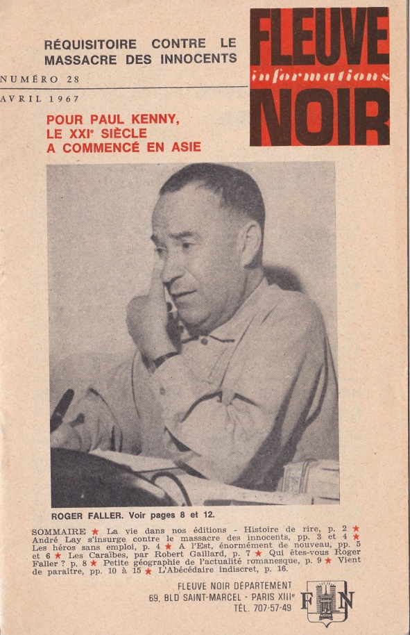 Informations Fleuve Noir n°28 avril 1967