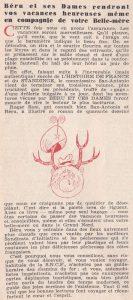 Informations Fleuve Noir n°30 juin 1967 Béru et ces dames