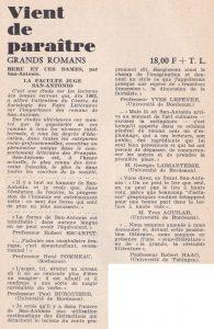 Informations Fleuve Noir n°30 juin 1967 la faculté