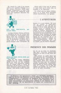 Informations Fleuve Noir n°85 mars 1972 back