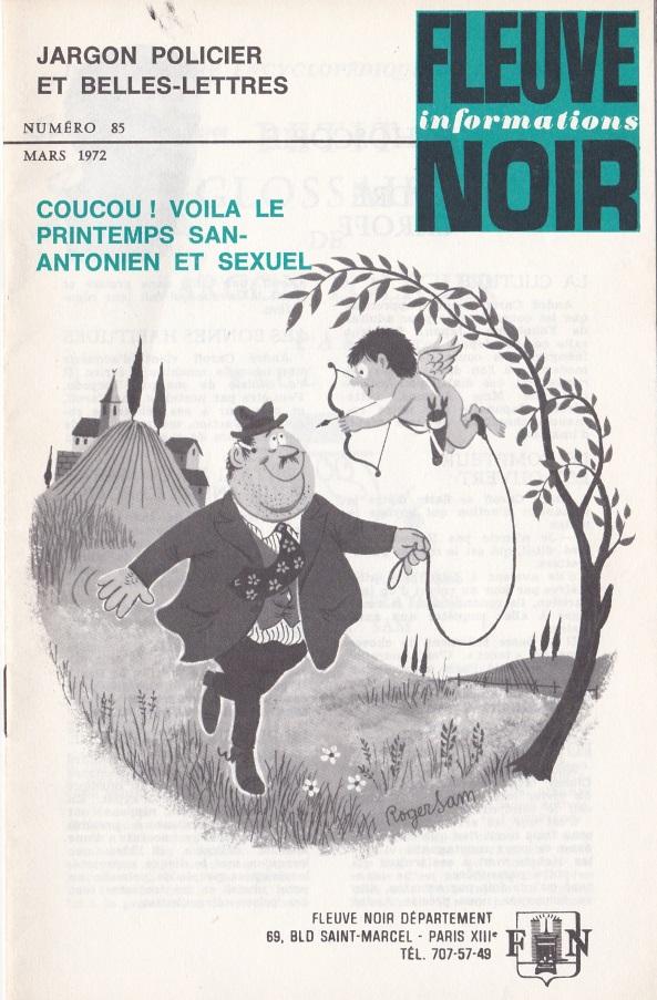 Informations Fleuve Noir n°85 mars 1972