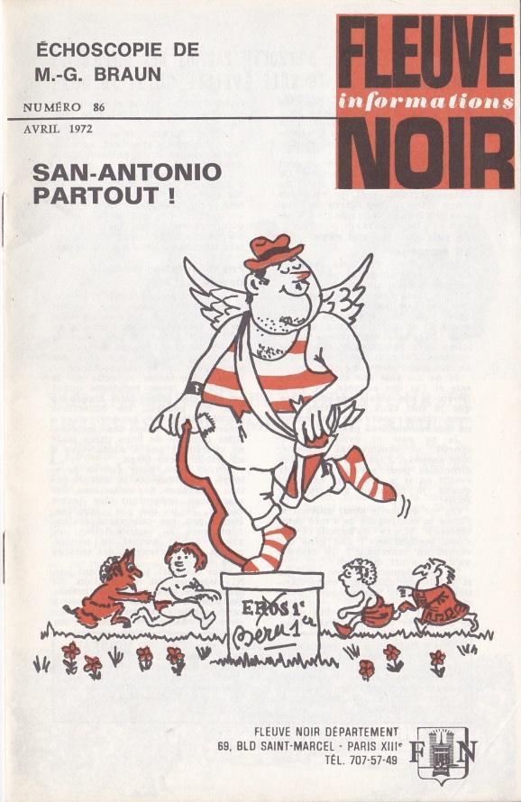 Informations Fleuve Noir n°86 avril 1972
