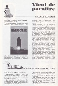 Informations Fleuve Noir n°87 mai 1972 Mausolée pour une garce