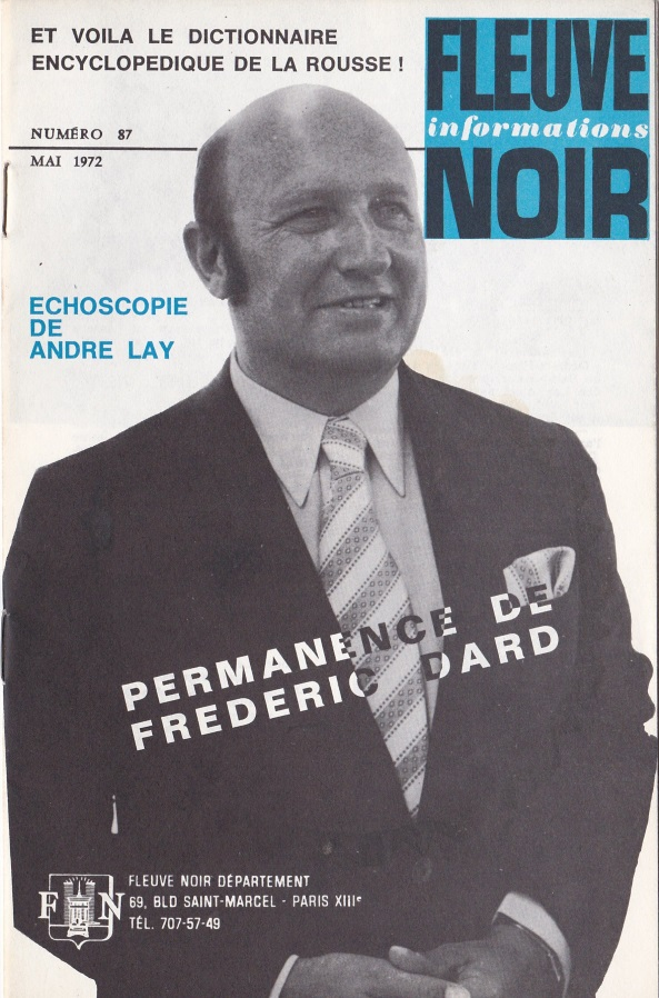 Informations Fleuve Noir n°87 mai 1972