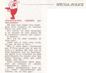 Informations Fleuve Noir n°88 juin 1972 Appelz moi chérie