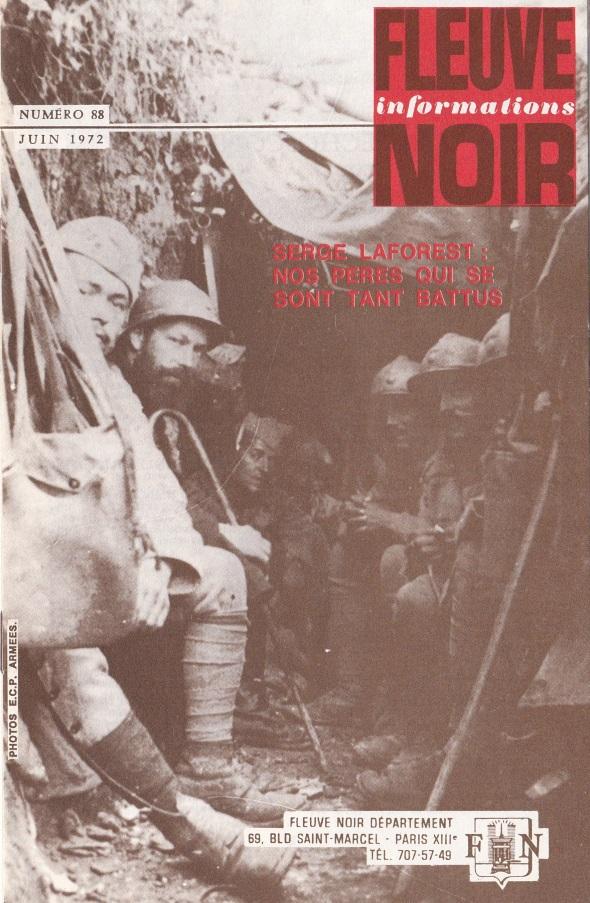 Informations Fleuve Noir n°88 juin 1972
