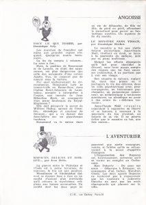 Informations Fleuve Noir n°91 septembre 1972 back