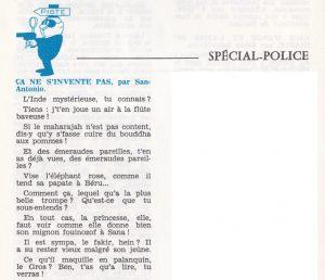 Informations Fleuve Noir n°95 janvier 1973 ça ne s'invente pas