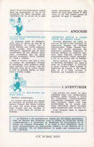 Informations Fleuve Noir n°97 mars 1973 back