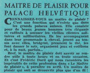 Informations Fleuve Noir n°97 mars 1973 le maitre de plaisir - Copie - Copie