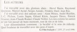 Jean-Pierre Mocky Les auteurs