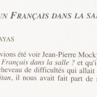 Jean-Pierre Mocky Y-a-t'il un Français dans la salle p 162