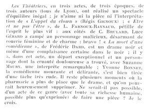 Reflets de la vie lyonnaise et du Sud-Est n°21 Trois de Lyon