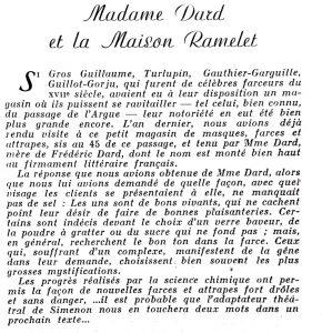 Reflets de la vie lyonnaise et du Sud-Est n°42 Mme Dard et la maison Ramelet