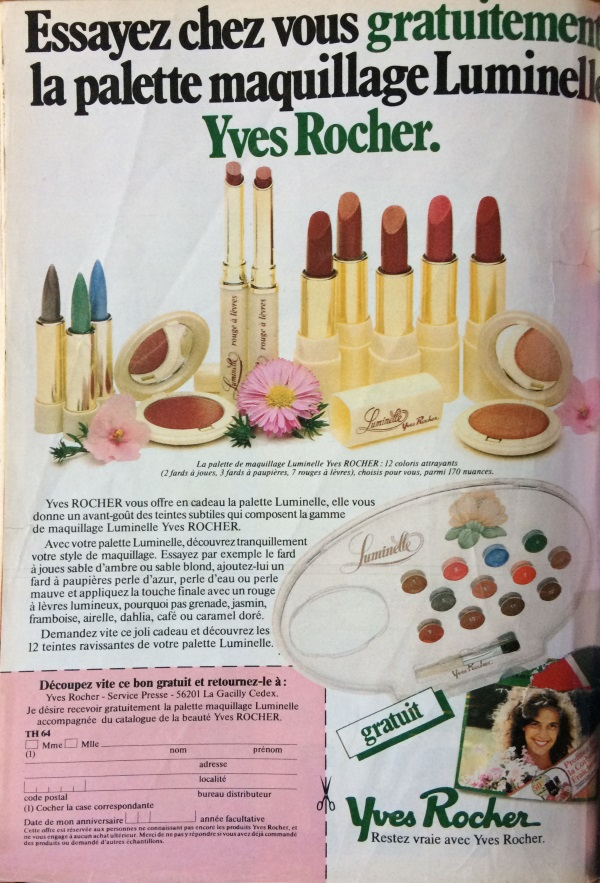 recevoir du maquillage gratuitement