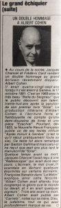 Télé -Journal n°374 Le Grand Echiquier suite