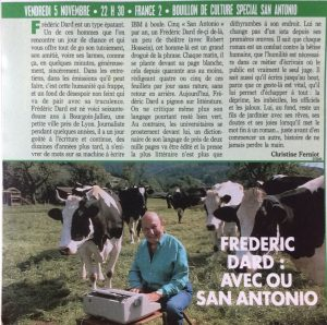 TV Magazine le courrier picard article