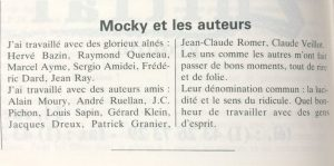 Le film français n°2295 Mocky