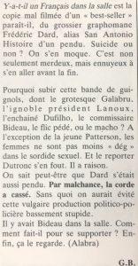 Le film français n°2295 critique sévère
