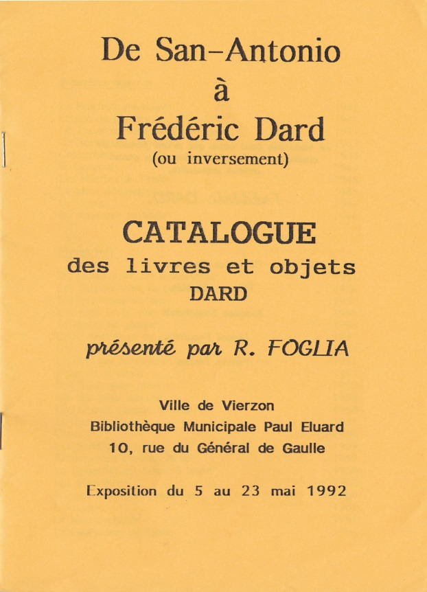 Catalogue San-Antonio Robert Foglia