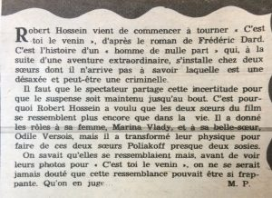 Ciné Revue n°19 9 mai 1958 texte