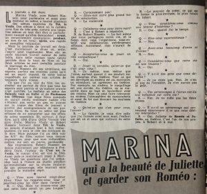 Ciné Revue n°32 8 août 1958 article début