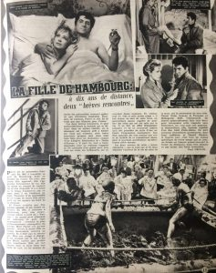 Ciné Revue n°34 22 août 1958 rticle La fille de hambourg