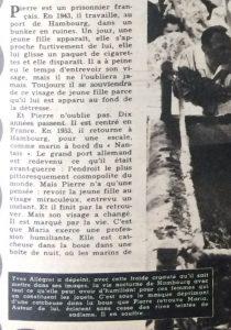 Ciné Revue n°34 22 août 1958 rticle La fille de hambourg - Texte 1