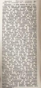 Ciné Revue n°7 12 février 1960 texte sur les scélérats