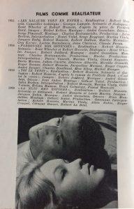 Cinéma 59 n°40 film comme réalisateur