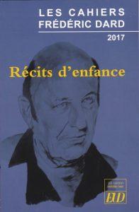 Les Cahiers Frédéric Dard - Récits d'enfance