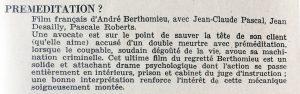 Cinéma 60 n°47 Premeditation