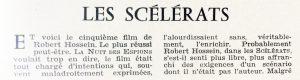 Cinéma 60 n°48 Les scélérats 1