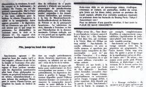 La quinzaine littéraire août 1973 article Zrehen fin - haut
