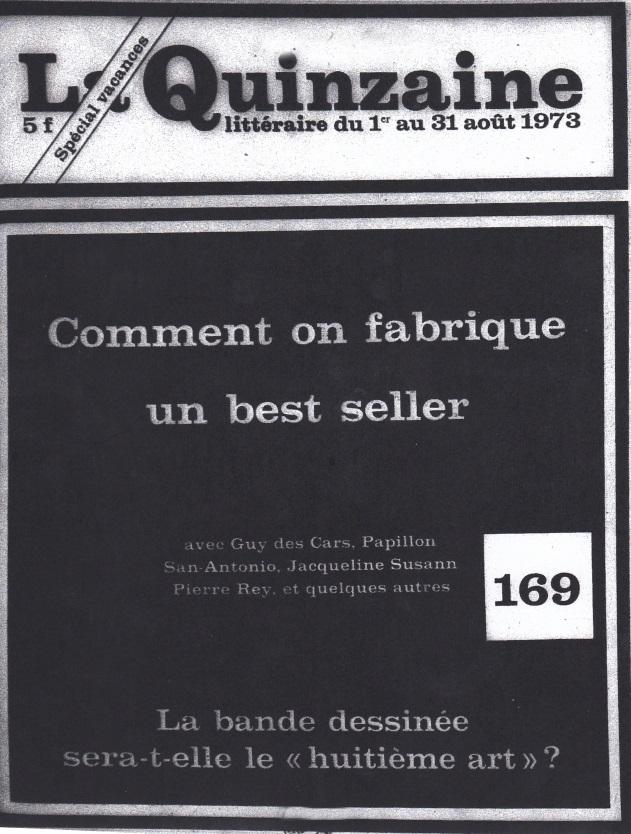 La quinzaine littéraire août 1973