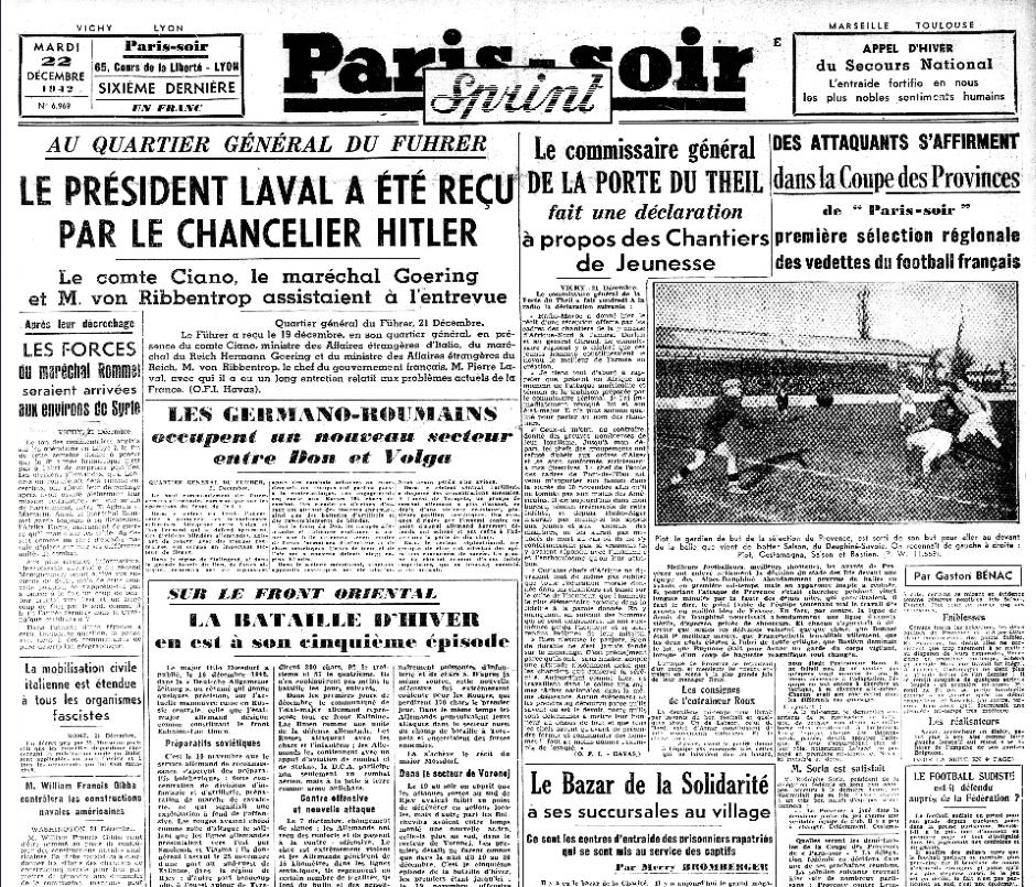 Paris Soir 22 décembre 1942